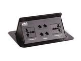 品牌:奥威亚 AVA&#10名称:弹起式长方形斜面桌面插座&#10型号:CZ-JXH-404