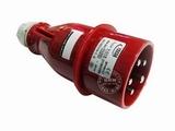 品牌:怡达 YEEDA&#10名称:IP44连接器插头5芯(16A380V)&#10型号:0150106
