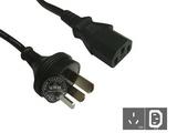 品牌:国产 Guochan&#10名称:服务器PDU专用直头10A延长线1.8米0.75平方&#10型号:GB10-C13/1.8m/0.75mm