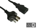 品牌:国产 Guochan&#10名称:服务器PDU专用直头10A延长线2米1平方&#10型号:GB10-C13/2m/1mm