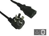 品牌:国产 Guochan&#10名称:服务器PDU专用弯头10A延长线1.8米0.75平方&#10型号:GB10-C13/1.8m/0.75mm