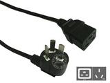 品牌:国产 Guochan&#10名称:服务器PDU专用弯头16A延长线2米1.5平方&#10型号:GB16-C19/2m/1.5mm