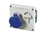 品牌:司坎拓普 SCAMETOP 名称:IP44暗装联锁插座3芯(16A220V) 型号:400.1683