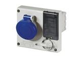 品牌:司坎拓普 SCAMETOP 名称:IP44暗装联锁插座3芯(16A220V) 型号:401.1683