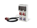 品牌:司坎拓普 SCAMETOP&#10名称:4位组合箱插座(带安全变压器及漏电保护)&#10型号:630.4009-016