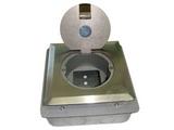 品牌:飞利富 Feilifu&#10名称:不锈钢开启式地面插座&#10型号:HTD-110FKP