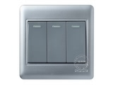 品牌:品上 POSO&#10名称:三位单控大按钮荧光指示开关&#10型号:PSB-31