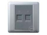 品牌:品上 POSO&#10名称:两位电话插座&#10型号:PSB-2L