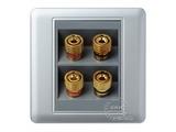 品牌:品上 POSO&#10名称:两位音响插座&#10型号:PSB-2Y