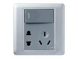 品牌:品上 POSO&#10名称:一位单控大按钮开关二三极插座&#10型号:PSB-11ES