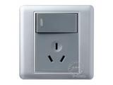 品牌:品上 POSO&#10名称:一位单控大按钮开关10A三扁插座&#10型号:PSB-11S10
