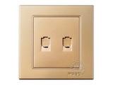 品牌:品上 POSO&#10名称:二位电话插座&#10型号:PSG-2L/A