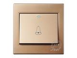 品牌:品上 POSO&#10名称:大按钮荧光指示门铃开关&#10型号:PSG-R/A