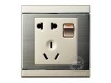 品牌:品上 POSO&#10名称:一位单控开关二三极插座&#10型号:S/15/10USL