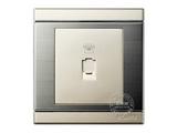品牌:品上 POSO&#10名称:一位四芯电话插座&#10型号:S/T01