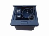 品牌:国产 Guochan 名称:弹起式桌面插座(欧标网络USB)  型号:AS-A001C-BK-1