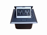 品牌:国产 Guochan 名称:弹起式桌面插座(2位美标)  型号:AS-A002A-BK-1
