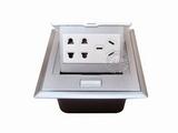 品牌:国产 Guochan 名称:弹起式桌面插座(三孔2位二孔)  型号:AS-A002A-SL-2