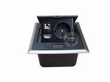 品牌:国产 Guochan 名称:弹起式桌面插座(欧标网络USB)  型号:AS-A002C-BK