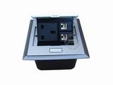 品牌:国产 Guochan 名称:弹起式桌面插座(英标2位网络)  型号:AS-A002C-SL-1