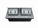 品牌:国产 Guochan&#10名称:双联弹起式桌面插座(4位三孔) &#10型号:AS-A003A-SL