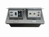 品牌:国产 Guochan&#10名称:双联弹起式桌面插座(USB卡农VGA网络音频视频) &#10型号:AS-A003A-SL-1