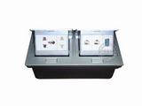 品牌:国产 Guochan&#10名称:双联弹起式桌面插座(五孔2位网络VGA) &#10型号:AS-A003A-SL-4
