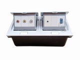 品牌:国产 Guochan&#10名称:双联弹起式桌面插座(音频视频VGA) &#10型号:AS-A003A-SL-5