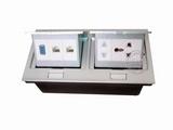 品牌:国产 Guochan&#10名称:双联弹起式桌面插座(五孔2位网络VGA) &#10型号:AS-A003A-SL-10