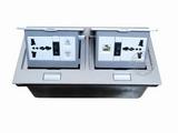 品牌:国产 Guochan 名称:双联弹起式桌面插座(五孔开关网络)  型号:AS-A003A-SL-11