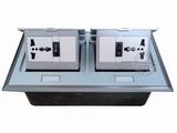 品牌:国产 Guochan 名称:双联弹起式桌面插座(2位三孔开关)  型号:AS-A006A-SL-1