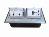 品牌:国产 Guochan 名称:双联弹起式桌面插座(3位三孔开关)  型号:AS-A006A-SL-2