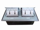 品牌:国产 Guochan 名称:双联弹起式桌面插座(4位三孔)  型号:AS-A006A-SL-3