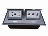 品牌:国产 Guochan 名称:双联弹起式桌面插座(五孔2位网络VGA)  型号:AS-A006A-SL-4