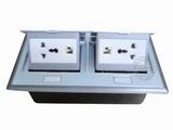 品牌:国产 Guochan 名称:双联弹起式桌面插座(2位三孔2位网络)  型号:AS-A006A-SL-5