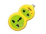 品牌:可来博 Clamber&#10名称:宝葫芦两位电源插座1.5米&#10型号:STY-1-D02/1.5m