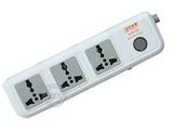 品牌:可来博 Clamber&#10名称:总控3联3米万用插座&#10型号:STY-1-D13-1S