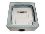 品牌:瑞博 Ruibo&#10名称:一位电话加一位电脑铜面开启式地面插座&#10型号:RDC-120-1
