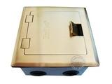 品牌:瑞博 Ruibo 名称:一位电脑铜面开启式地面插座 型号:RDC-120-2