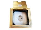 品牌:瑞博 Ruibo 名称:一位欧标铜面开启式地面插座 型号:RDC-120-3