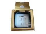 品牌:瑞博 Ruibo&#10名称:二位电话加二位电脑铜面开启式地面插座&#10型号:RDC-120-5