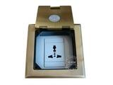 品牌:瑞博 Ruibo 名称:一位三孔铜面开启式地面插座 型号:RDC-120-6