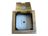 品牌:瑞博 Ruibo 名称:一位电话铜面开启式地面插座 型号:RDC-120-7