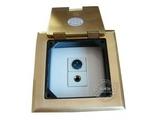 品牌:瑞博 Ruibo&#10名称:一位音响加一位卡农铜面开启式地面插座&#10型号:RDC-120-8