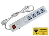 品牌:国产 Guochan&#10名称:红黑隔离电源插座 总控四位 防电磁泄漏&#10型号:BWDA-A10