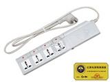 品牌:国产 Guochan 名称:红黑隔离电源插座 分控四位 防电磁泄漏 型号:QY-GLII