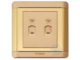 品牌:品上 POSO&#10名称:二位电话插座&#10型号:R/T01/2