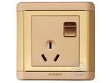 品牌:品上 POSO&#10名称:一位单控开关10A三扁插座&#10型号:R/15/10S