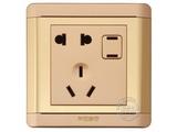品牌:品上 POSO&#10名称:一位二扁插加连体二三极插座&#10型号:R/426/10EUSL