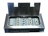 品牌:正旦 Zhengdan 名称:不锈钢一位二极插座+三位多功能插座+可装(未含)多位各种弱电功能插座 型号:DHK-320F-4